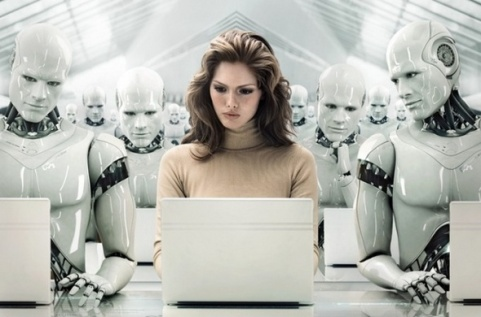 Robot-woman-office
